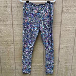 Lularoe rainbow snake leggings TC (L/XL)